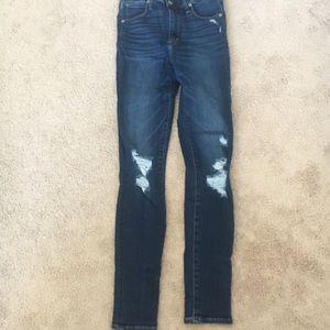 Abercrombie skinny dark wash jeans